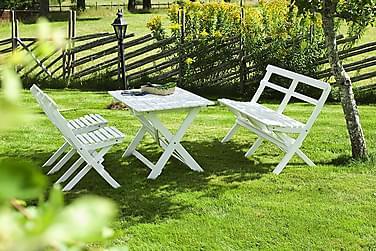 Ruokailuryhmä Hillerstorp Torpet 68x110 + 2 tuolia + Sohva