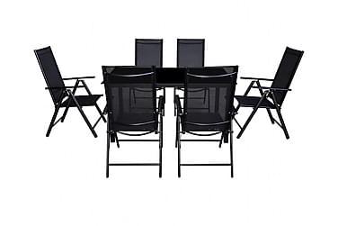 7-osainen Ulkoruokailuryhmä kokoontaittuvat tuolit alumiini