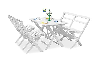 Knohult Ruokailuryhmä 2 kokoontaittuvaa tuolia ja penkki