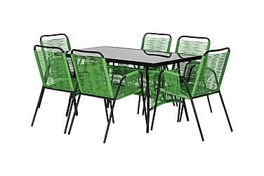 Pöytä Perabo 140 + 6 tuolia Vihreä