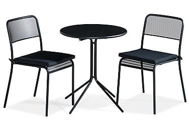 Parvekeryhmä Alexis 60 Pyöreä + 2 Logan tuolia Pehmuste