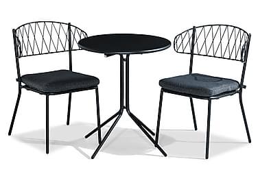 Parvekeryhmä Alexis 60 Pyöreä + 2 Percy tuolia Pehmuste