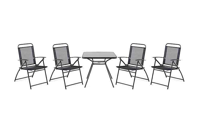 Puutarhakaluste Pöytä + 4 tuolia Livo - Puutarhakalusteet - Ulkotilan ruokailuryhmät - Ruokailuryhmät ulos