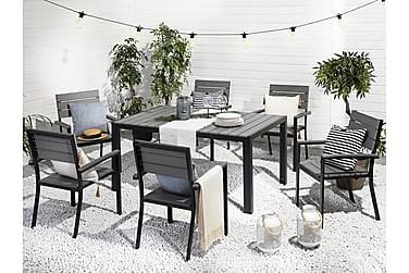 Puutarhakaluste Pöytä + 6 tuolia Como