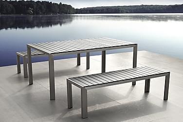 Puutarhakaluste Pöytä + Penkki Nardo