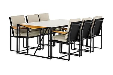 Ruokailuryhmä Östermalm 200x100 + 6 tuolia