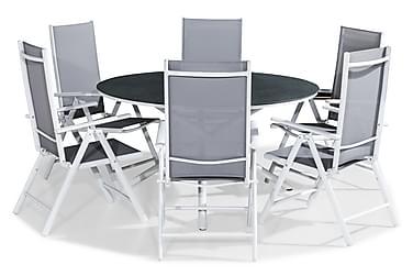 Ruokailuryhmä Alex 140 Pyöreä + 6 Maggie tuolia