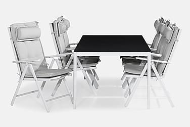 Ruokailuryhmä Alex 200x100 + 6 Maggie tuolia Pehmuste