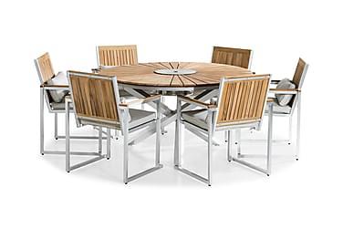 Ruokailuryhmä Båstad 150 Pyöreä + 6 tuolia