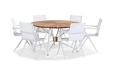 Ruokailuryhmä Cannes 140 Pyöreä + 6 tuolia