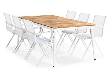 Ruokailuryhmä Cannes 200x100 + 6 tuolia