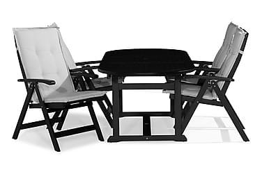 Ruokailuryhmä Dalarö 150-200x72 Ovaali+4 Lidö tuolia Pehmust
