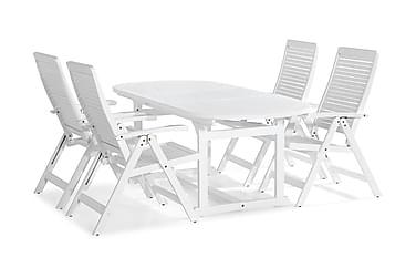 Ruokailuryhmä Dalarö 150-200x72 Ovaali + 4 Lidö tuolia