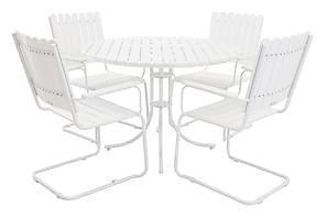 Ruokailuryhmä Ehomba 103 Pyöreä + 4 tuolia