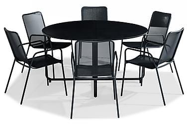 Ruokailuryhmä Flippy 140 Pyöreä + 6 Jean tuolia