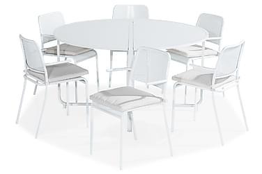 Ruokailuryhmä Flippy 140 Pyöreä + 6 Logan tuolia käsinoja Pe
