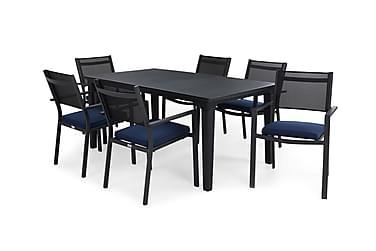 Ruokailuryhmä Futura 165 + 6 Sierra Pinottava tuoli pehmuste