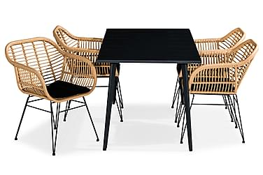 Ruokailuryhmä Grace 150x80 + 4 Larnaca tuolia Pehmuste