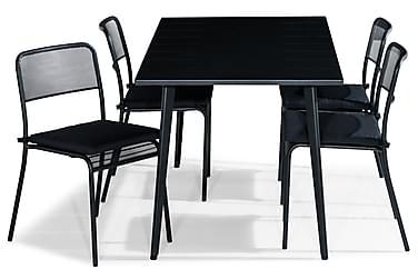 Ruokailuryhmä Grace 150x80 + 4 Logan tuolia Pehmuste
