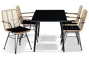 Ruokailuryhmä Grace 150x80 + 4 Malaga tuolia Pehmuste
