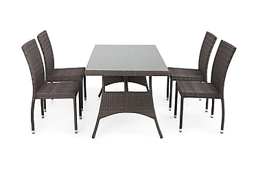 Ruokailuryhmä Hillerstorp Atlanta 80x140 + 4 pinott tuolia
