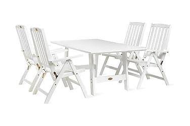 Ruokailuryhmä Hillerstorp Cecilia 100x165-285+4 tuolia +pehm