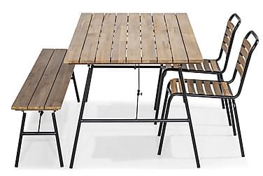 Ruokailuryhmä Kameleont 180x90 + 2 tuolia + penkki