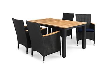 Ruokailuryhmä Las Vegas 152-210x90+4 Thor Lyx tuolia pehm