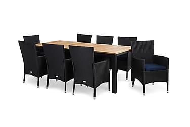 Ruokailuryhmä Las Vegas 220-280x100 + 8 Thor tuolia pehmuste