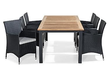 Ruokailuryhmä Las Vegas 224-324x100 + 6 Thor tuolia pehmuste