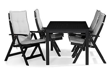 Ruokailuryhmä Lidö 150x90 + 4 Lidö tuolia Pehmuste