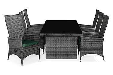 Ruokailuryhmä Majestic 210x100+6 Jenny Lyx tuolia Pehmuste