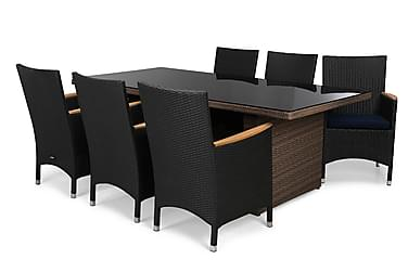 Ruokailuryhmä Majestic 210x100+6 Thor Lyx tuolia pehmuste
