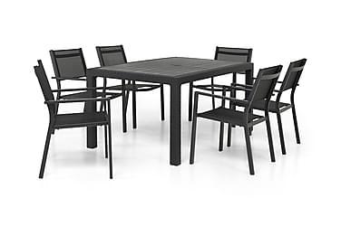 Ruokailuryhmä Melody 160 + 6 Sierra Pinottava tuoli