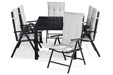 Ruokailuryhmä Melody 160x64 + 6 Maggie tuolia Pehmuste