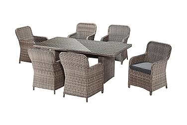 Ruokailuryhmä Mersig 200x100 + 6 tuolia