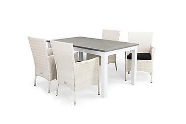 Ruokailuryhmä Monaco 152-210x90 + 4 Thor tuolia pehmuste
