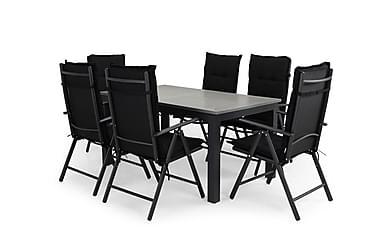 Ruokailuryhmä Monaco 152-210x90 + 6 Maggie tuolia Pehmuste