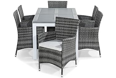 Ruokailuryhmä Monaco 152-210x90 + 6 Thor tuolia Pehmusteella