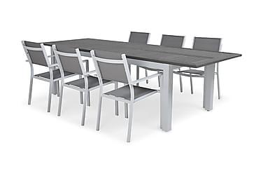 Ruokailuryhmä Monaco 220-280 + 6 Sierra Pinottava tuoli