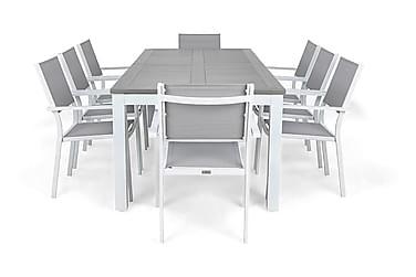 Ruokailuryhmä Monaco 220-280 + 8 Sierra Pinottava tuoli