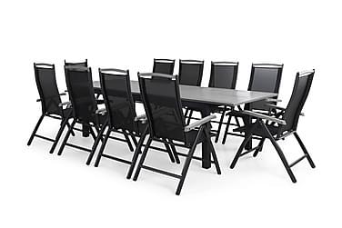 Ruokailuryhmä Monaco 220-280x100 + 10 Monaco tuolia Pehmuste