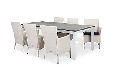 Ruokailuryhmä Monaco 220-280x100 + 6 Thor tuolia pehmuste
