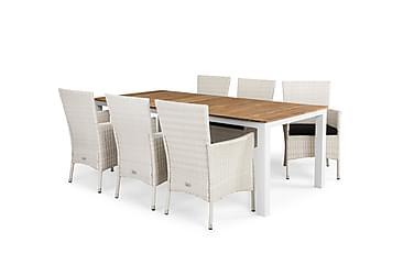 Ruokailuryhmä Olive 210x100 + 6 Thor tuolia pehmuste