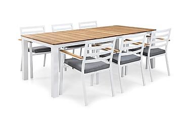 Ruokailuryhmä Olive 210x100 + 6 tuolia pehmuste