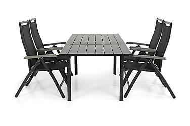 Ruokailuryhmä Portland 152-210x90 + 4 Monaco Lyx tuolia