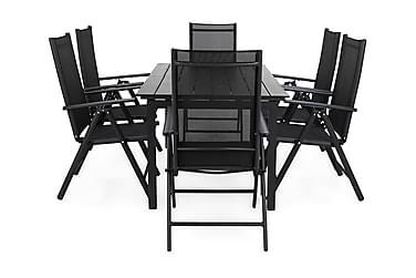 Ruokailuryhmä Portland 152-210x90 + 6 Maggie tuolia