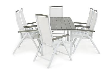 Ruokailuryhmä Portland 152-210x90 + 6 Monaco Lyx tuolia