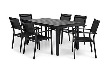 Ruokailuryhmä Portland 152-210x90 + 6 Sierra tuolia