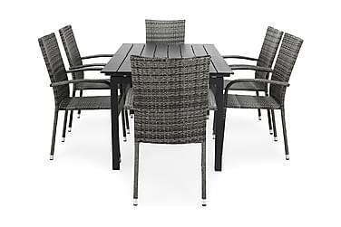 Ruokailuryhmä Portland 152-210x90 + 6 Thor Light tuolia